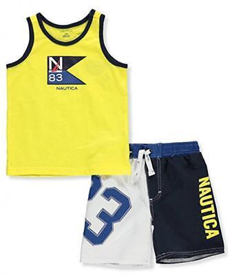 Nautica Boys Yellow Tank 2pc Board Short Set Size 2T 3T 4T 4 5 6 7