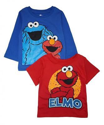 Sesame Street Toddler Boys Elmo & Cookie Monster 2pc Tops Size 2T 3T 4T