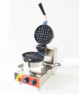 Nonstick 110V Electric Rotated Waffle Maker Making Machine Iron NEW