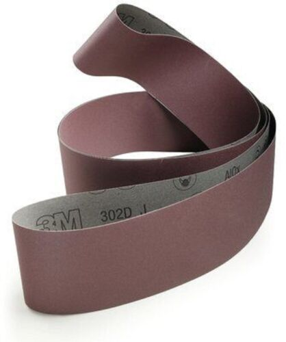 "40% OFF 22 Each 3M 302D 4""x118"" P400 Grit J-Weight Flexible Cloth Belt 27129"