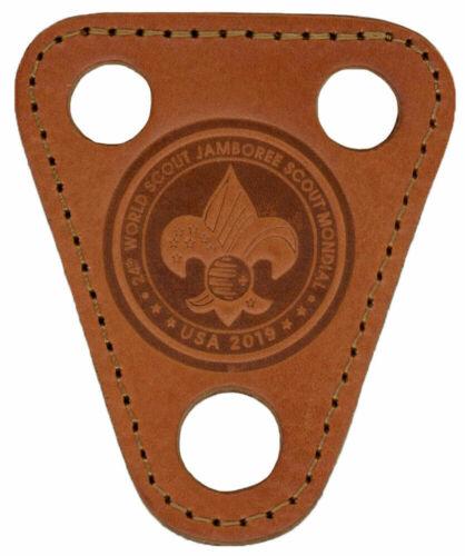 2019 Official World Scout Jamboree Mondial Leather Neckerchief Slide IST WSJ BSA
