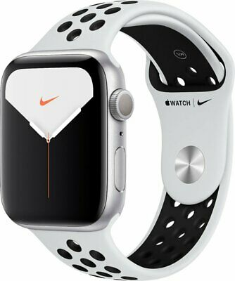 Apple Watch Nike Series 5 (GPS) 44mm Silver Aluminum Case with Pure Platinum