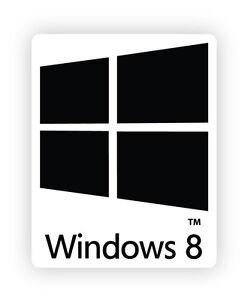 Windows 8 eight W8M PC Finestre di otto adesivo etichetta sticker 2cm