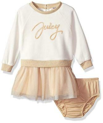 Juicy Couture Infant Girls Vanilla & Gold Dress Size 12M 18M 24M $60 - Infant Couture Dresses