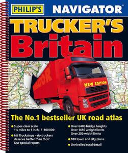 Philips Britain Navigator Trucker's Road Atlas Spiral 2019