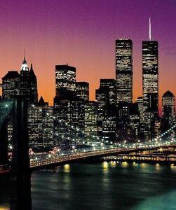 Photo Wallpaper Wall Mural - New York City Brooklyn Bridge Sunset (72x100) #331
