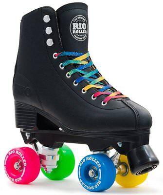 Rio Roller Figure Quad Skate Adults Patines Unisex Adulto negro Rodamiento ABEC7