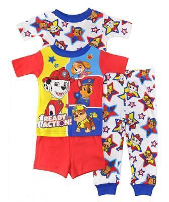 Paw Patrol Toddler Boys 4pc Snug Fit Pajama Set Size 2T 3T 4T $42](Toddler Pj)