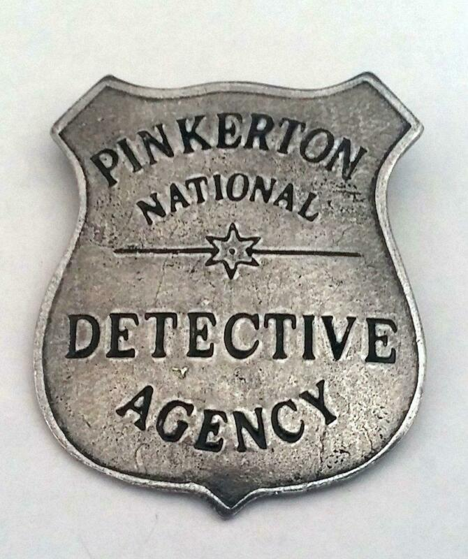 Pinkerton National Detective Agency Historic Replica Badge Shield Pewter USA