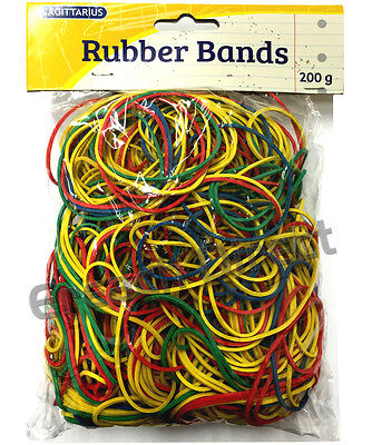 SAGITTARIUS 400pcs Strong Elastic Rubber Bands for Home, School and Office 200g
