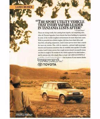 1991 Toyota Land Cruiser Outback Original Car Advertisement Print Ad J202