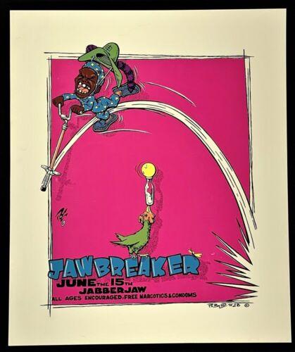 Jawbreaker POSTER Jabberjaw Concert Silkscreen Pablo POG Paul O
