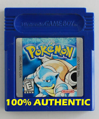 ORIGINAL Pokemon BLUE Version New Battery Can Save AUTHENTIC Game Boy Color Game Boy Colored Battery