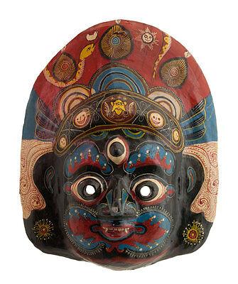 Mask Ethnic of Ritual Nepalese Paper Mache POLYCHROME-DIVINITE-3742