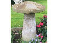 2 Antique Staddle Stones