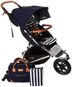 NEW Mountain Buggy Urban Jungle Luxury Collection Stroller, Nautical Condition: New