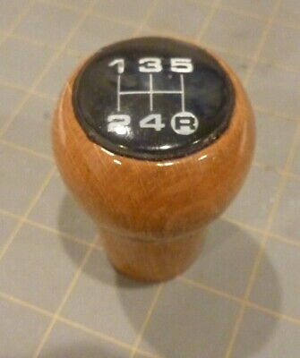 Audi shift knob, wood 5 speed manual 1980s 1990s 4000 coupe 80 90 OEM VW origina