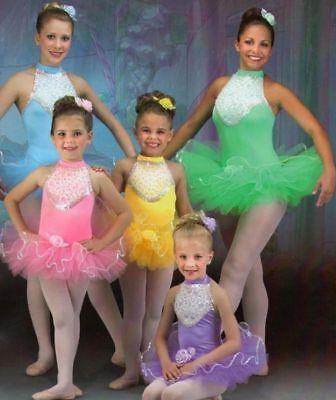 Bon Bon Dance Costume Pastels & Lace Ballet Tutu Clearance Size & Color Choice - Color Tutus