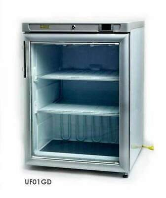 Hebvest Uf01gd Single Glass Door Undercounter Reach-in Freezer 115v