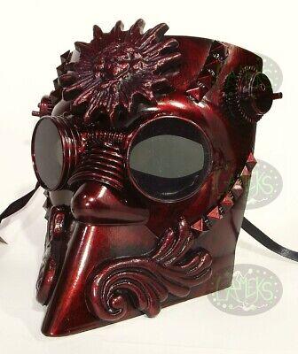 MASCHERA BAUTA STEAMPUNK cyberpunk halloween horror colore rame
