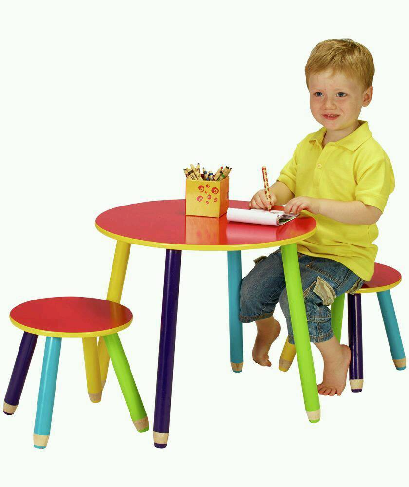 Argos Pencil Table And 2 Stools