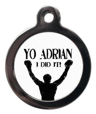 Haustiermarke Yo Adrian I DID It Personalisiert Tag oder Schlüsselanhänger 2