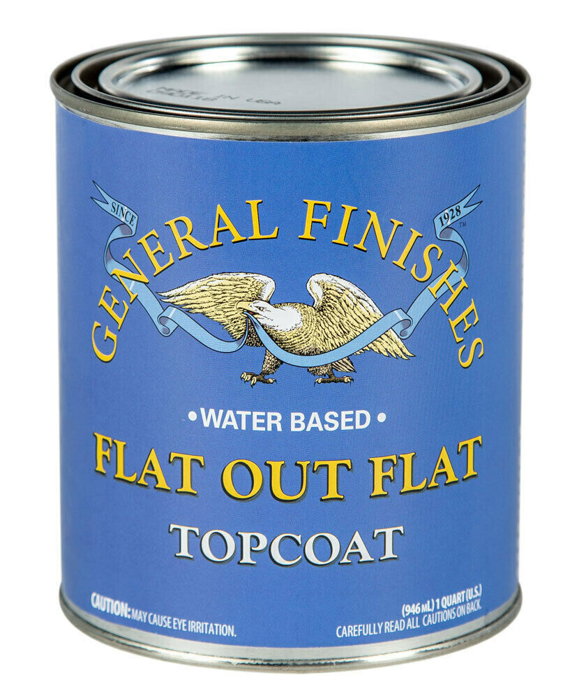 General Finishes Flat Out Flat Water Based Topcoat, Quart (FQT) Building & Hardware