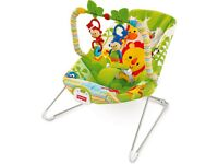 Fisher price rainforest bouncer with hanging toys