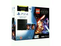 PS4 1TB Console, LEGO Star Wars Game and Star Wars Blu-Ray