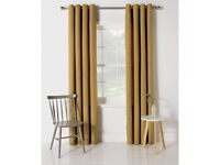 D OCHRE Curtains 66x72 BN and 4 50x50 Ochre Cushion Covers (NEW) Will post