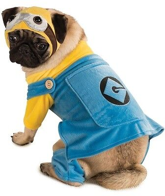 Pet Dog Cat Minion Despicable Me Halloween Fancy Dress Costume Outfit Clothes