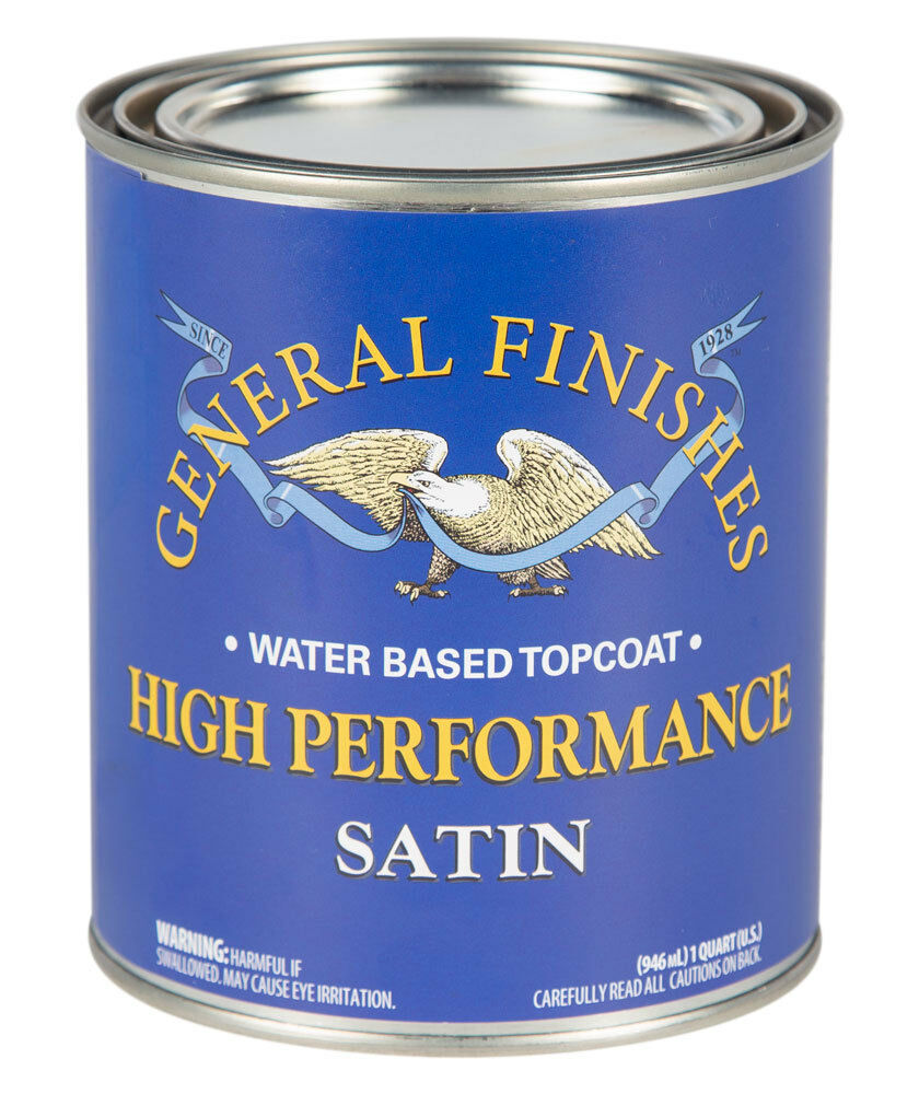 General Finishes High Performance Water Based Topcoat 1 Quart Flat, Satin, Gloss Building & Hardware