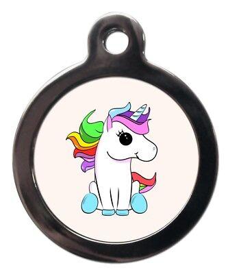 Katze Custome (Cute Custom Unicorn Pet ID Tags - Dog Cat Name Identity Tags - Personalised FREE)