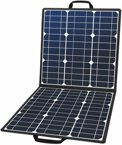 50W 18V Portable Solar Panel Foldable Solar Charger with 5V USB 18V DC Output
