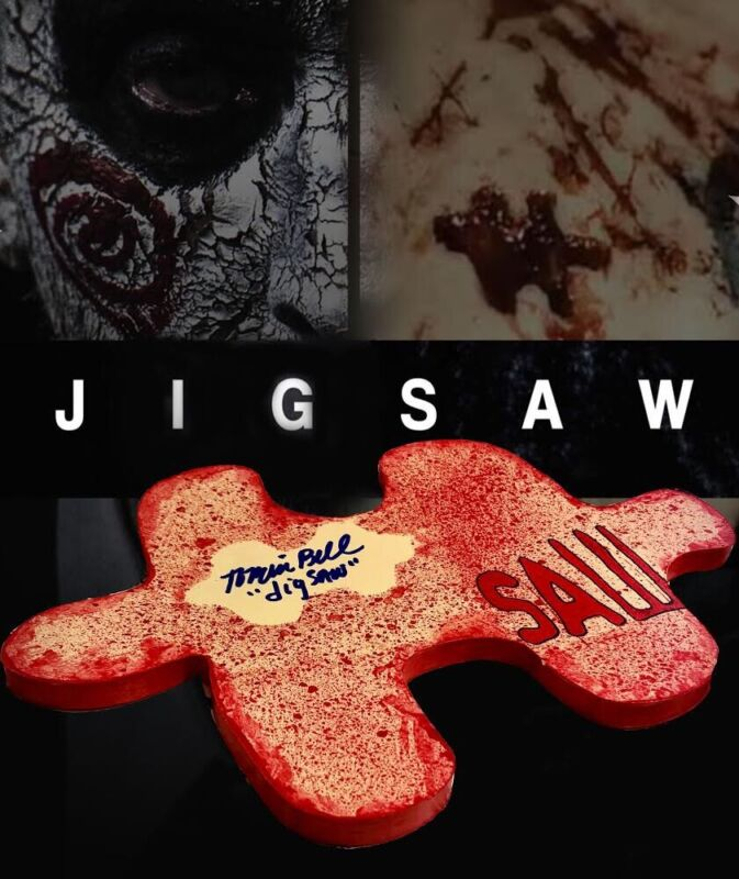 Tobin Bell #1/6 Autographed Jigsaw Puzzle Piece Saw Horror