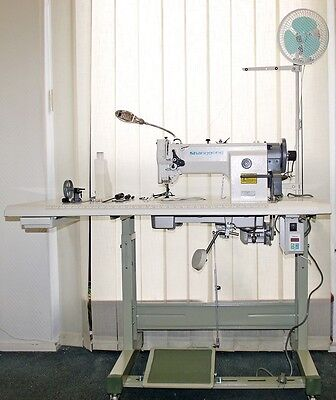 3 fachtransport Industrienähmaschine für Jeans, Taschen, Leder 0628 + gratis