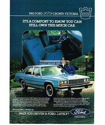- 1983 Ford LTD Crown Victoria Blue 4-door Sedan Vtg Print Ad