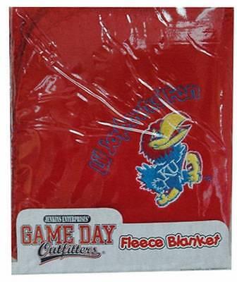 Kansas Jayhawks Logo Lil Fan Infant Baby Fleece Blanket Brand New