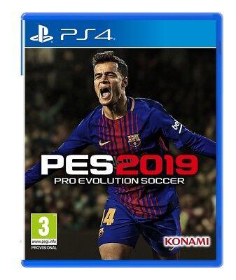 PES 2019 PS4 Spiel Pro Evolution Soccer 2019 incl. myClub Bonuscode  *NEU OVP*