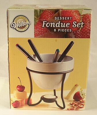 Wilton Dessert Fondue Set for 4 People New Non Electric Off Grid Friendly