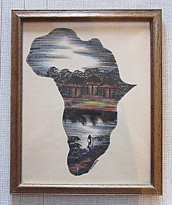 Afrikanische Original Tuschezeichnung,aus Sammlung  * Kenia 1970. * 2