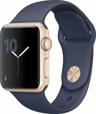 Apple Watch Series 1 38mm Gold Aluminum Case Midnight Blue Sport Bands
