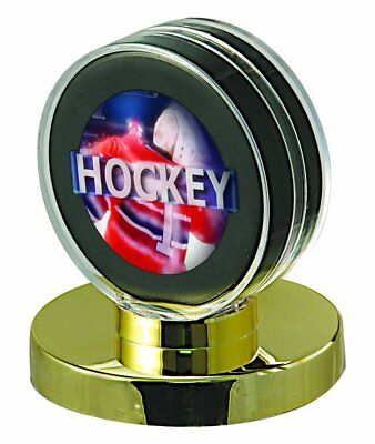 Base Puck Holder (ULTRA PRO HOCKEY PUCK HOLDER, GOLD BASE sports collectible cases )