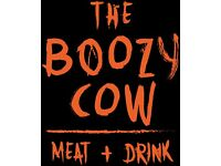 The Boozy Cow Kitchen team now recruiting