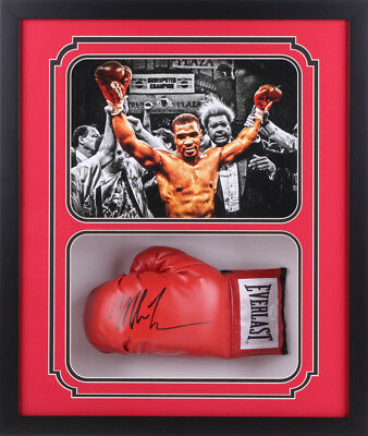 54fce9f96a4 Mike Tyson Signed 22x26x5 Custom Framed Shadowbox Boxing Glove Display   JSA  COA