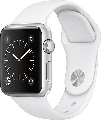 $228.99 - Open-Box Excellent: Apple - Apple Watch Series 1 38mm Silver Aluminum Case Wh...