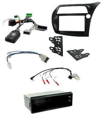 Honda Civic 2006-2011 RHD Car Stereo Single Double Din Facia Stalk Fitting Kit