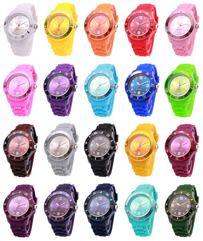 sv24 XXL Watch Armbanduhr Silikon Uhr Damen Herren Quarz Sport Uhren Farbwahl