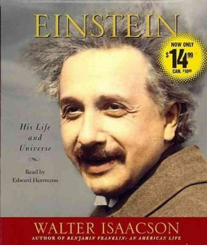 NEW EINSTEIN by Walter Isaacson His life and Universe Audiobook read by Edward H