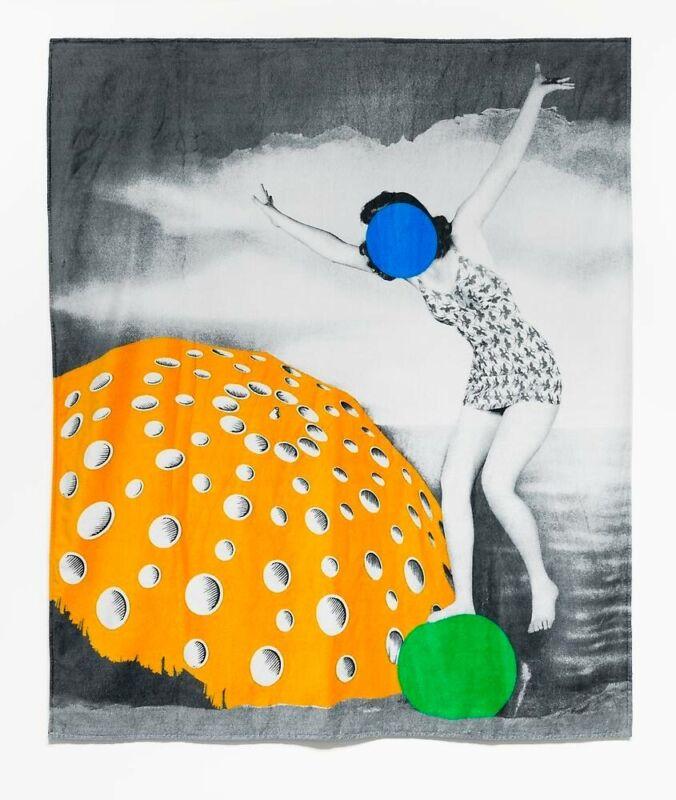 "JOHN BALDESSARI Limited Edition Oversized Beach Towel NWT 70x60"" RARE"